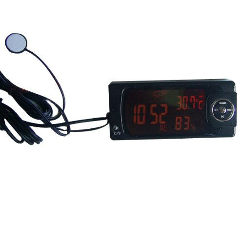 New Car Thermometer Hygrometer Auto Digital Clock and Calendar by Bcn