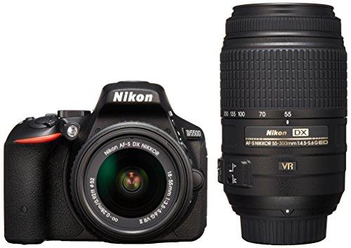 Nikon デジタル一眼レフカメラ D5500 ダブルズームキット ブラック 2416万画素 3.2型液晶 タッチパネル