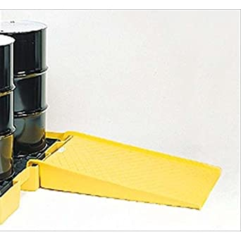 "Eagle 1689 Polyethylene Low Profile Pallet Ramp, Yellow, 1500 lbs Load Capacity, 45.5"" Length, 32"" Width, 8"" Height"