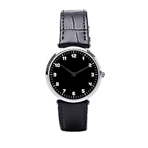 Dr. Koo Minimalism Men Leather Watch Minimalist Leather Band Watches Mens