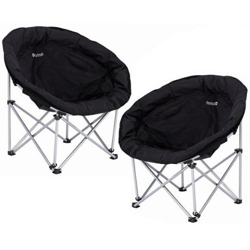 2 x OUTWELL COMFORT CHAIR OUTDOOR CAMPING FOLDING MOON