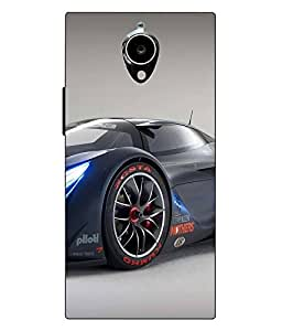 Make My Print Car Printed Black Hard Back Cover For Gionee Elife E7