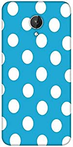 Snoogg Blue Polka Dot Designer Protective Back Case Cover For Micromax Canvas Spark Q380