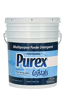 Dial 1729436 Professional Purex Mountain Breeze Multipurpose Powder Detergent, 15.6lbs Pail, 188 Load
