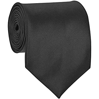 Formal Tie Solid Almost Black TO-90