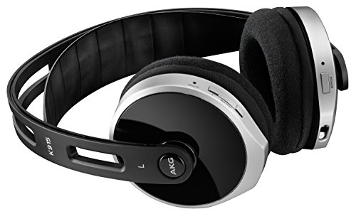 AKG K915 Cuffie Stereo Home Bluetooth Wireless, Digitali ,Livello Base con Dock di Ricarica, Compatibili con Dispositivi Apple iOS e Android, Nero/Argento