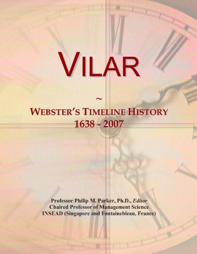 Vilar: Webster's Timeline History, 1638 - 2007