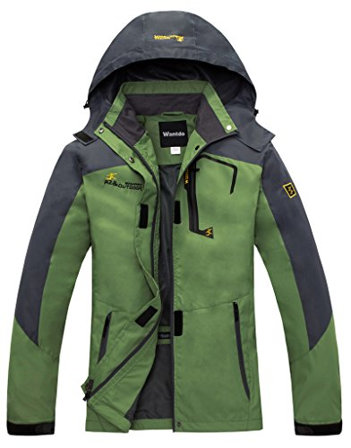 Wantdo Women's Elastic Fabric Drawstring Hoodie Removable Hood Outer Door Jacket,green, US:XL (Fishing Jacket Waterproof compare prices)