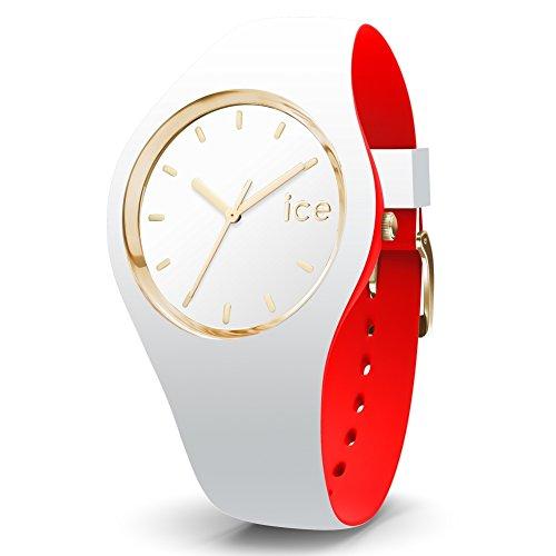 ICE-Watch - 007229 - Loulou White Gold - Montre Femme - Cadran Blanc - Bracelet Silicone Blanc