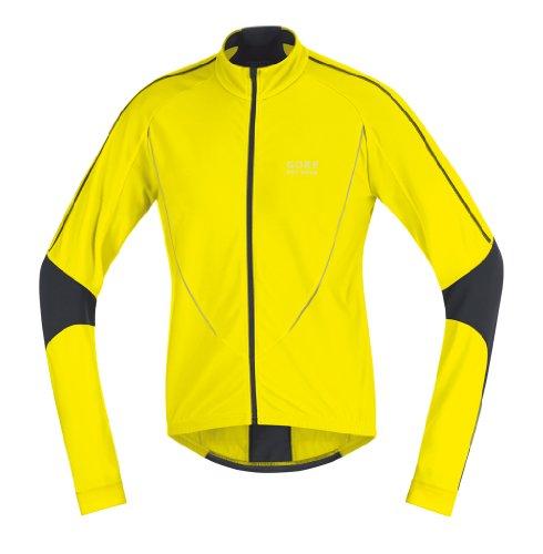 Gore Bike Wear Men's Power II Thermo Jersey, Lemon/Black, Large