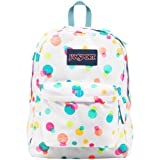 "JanSport Superbreak Backpack - Pink Pansy Confetti Dots - 16.7""H x 13""W x 8.5""D"