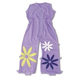 Baby Boum 6-24 Months Tog Jumpsuit cum Sleeping Bag with Appliqued Flower Design (Lilas Lilac, Pretty Petal Collection)