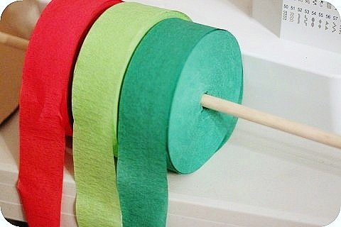 Christmas Holiday Celebration Streamers ~ Red, Lime Green & Green - 217 Ft Total