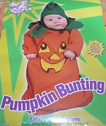 Pumpkin Bunting Infant Costume Fits Up To 25 Inche Long front-883032