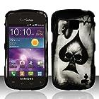 For Samsung Illusion / Galaxy Proclaim i110 (Verizon/Straight Talk) Rubberized Design Cover - Spade Skull