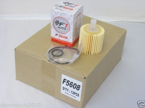 F1AUTO 12 Piece F5608 ENGINE OIL FILTER CARTRIDGE KIT Toyota 04152-YZZA1 (2015 Lexus Rx350 Oil Filter compare prices)