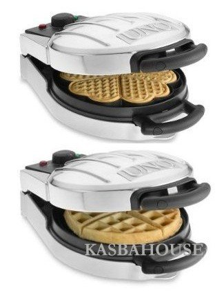 Villaware UNO Reversible Belgian & Heart Waffle Maker