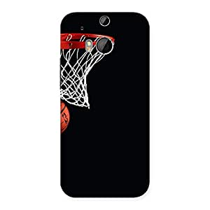 Delighted Basket Ball Multicolor Back Case Cover for HTC One M8
