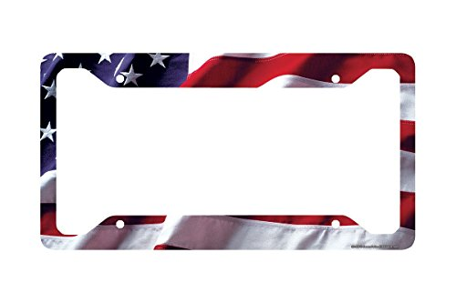 Airstrike American Flag License Plate Frame, American Flag License Plate Holder, American Flag Frame-30-235 (American License Plate Frame compare prices)
