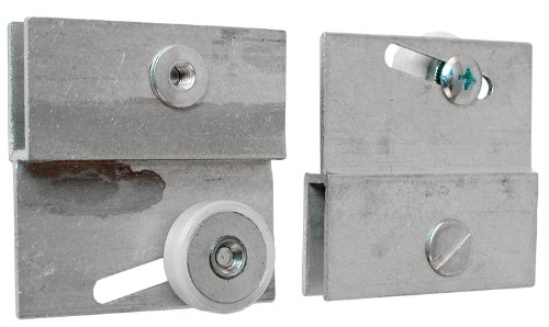 Prime-Line Products M 6054 Frameless Sliding Shower Door Top Bracket, 3/4 in., Flat Plastic Wheel, Steel Ball Bearings (Bathroom Sliding Door compare prices)