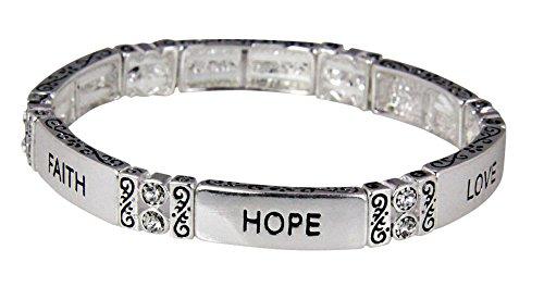 4031342 Faith Hope Love Stretch Bracelet 1st Corinthians Christian Scripture Jewelry