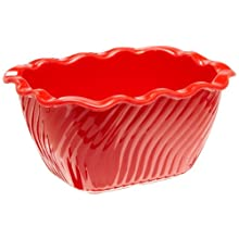 Carlisle 696805 Red 2.5 Lbs Tulip Deli Crock (Case of 6)
