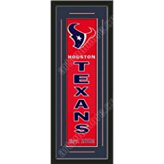Heritage Banner Of Houston Texans With Team Color Double Matting-Framed Awesome &... by Art and More, Davenport, IA