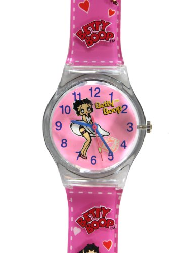Pink Hearts Betty Boop Jelly Band Watch - Betty Boop Watch