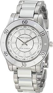 Anne Klein Women's 10/9981SVSV Silver-Tone Aluminum Bracelet Watch
