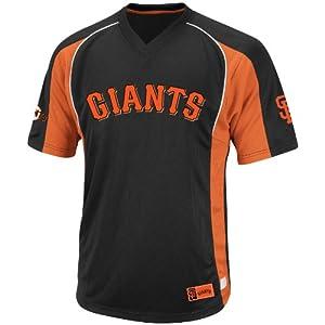MLB San Francisco Giants Men's True Winner Crew Polo, Black/Orange, X-Large