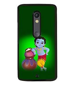 printtech Lord God Krishna Back Case Cover for Motorola Moto X Style