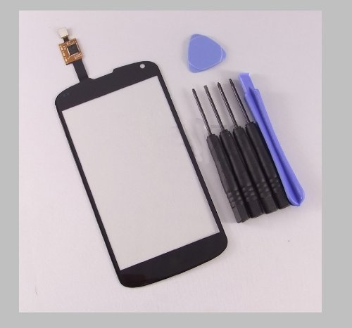 Touch Screen Digitizer For Lg Google Nexus 4 E960 - Black ~ Front Panel Glass Lens ~ Repair / Replacement Part + Tools