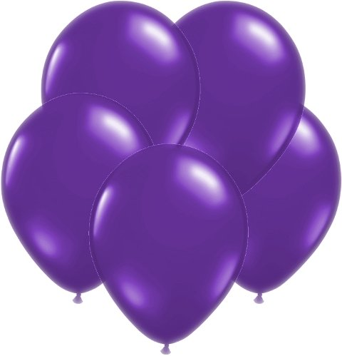 "Amscan New Bulk Solid Color Latex Balloons, 12"", Purple"
