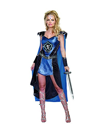 Dreamgirl Women's Sexy Royal Warrior Costume, King Slayer Female
