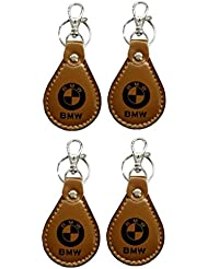 PARRK BMW Full Leather Locking KeyChain Pack Of 4