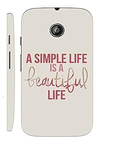 KALAKAAR Printed Back Cover for Motorola Moto E,Hard,HD Matte Quality,Lifetime Print Warranty