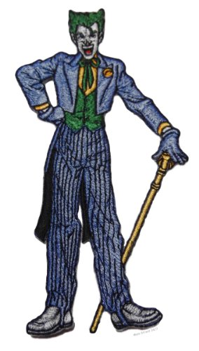 """Batman Series THE JOKER Standing Pose 5"""" Tall Embroidered PATCH"""