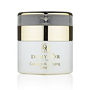 Di'MYOOR Anti-Aging Collagen Cream - Infused with Caviar extract, Glycolic Acid, Certified Organic, Aloe Vera, DMAE, Vitamin C, 50ml/1.7oz, fights wrinkles, long lasting, ON SALE, Pure and genuine!