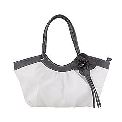 Jewlot White PU Women's Handbags 1096
