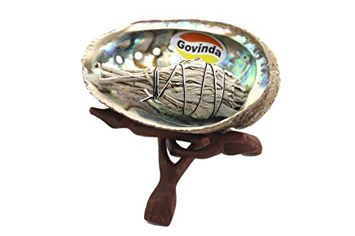 govinda-pearlized-abalone-shell-smudging-kit-with-wooden-tripod-stand-white-sage-stick