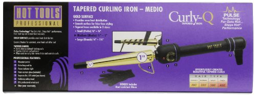 Hot Tools Professional Htg1851 Tapered Curling Iron, Gold Curling Iron, Medium