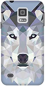 The Racoon Grip Ice Wolf Edged hard plastic printed back case / cover for Samsung Galaxy S5