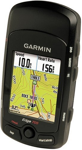 Garmin Edge 705 GPS-Enabled Cycling Computer (Includes Heart Rate Monitor, Speed/Cadence Sensor, and SD Card with Street Maps)