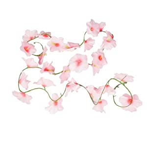 Buy home wall decor artificial light pink fabric flower for Artificial flowers for home decoration india