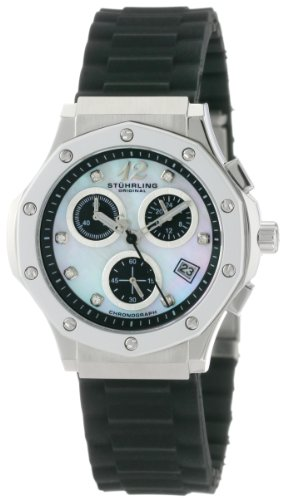 Stuhrling Original Women's 180R.11167 Special Reserve Apocalypse Cosmo Girl Swarovski Crystal Mother-Of-Pearl Chronograph Date Watch