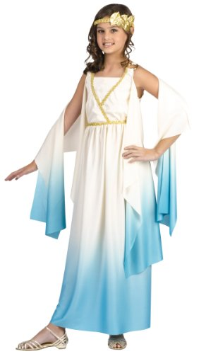big girls greek goddess costume medium 8 10