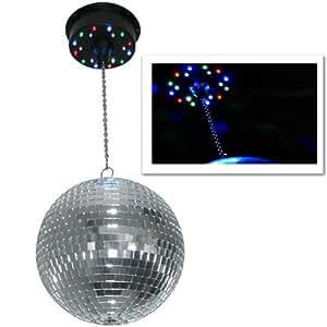 skytec motorised led disco ball ceiling mount 18 leds. Black Bedroom Furniture Sets. Home Design Ideas