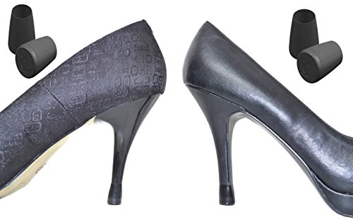 Flash On Heels® Heel Protectors 2 Pairs Black Size 1 2