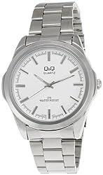 Q&Q Standard Analog White Dial Mens Watch - KV98J201Y