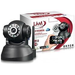 LKM Security LKM-IPCINV01BK IP Camera da Interno ed Esterno Wireless, Nero
